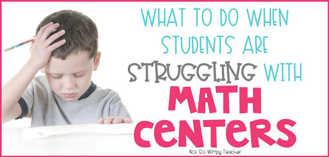 Tips for helping students who are not behaving or getting their math centers completed