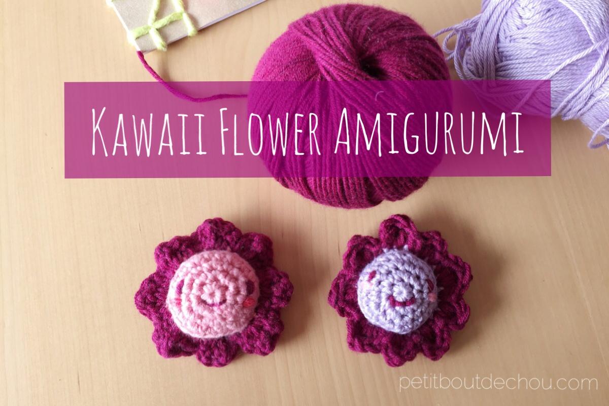 Amigurumi Flowers Free Patterns : Crochet kawaii amigurumi flower petit bout de chou