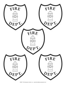 Insignias para imprimir y pegar en la parte frontal del casco de bombero