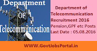 Department of Telecommunication Recruitment 2016