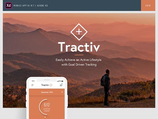 Download Tractiv Adobe XD UI Kit Free