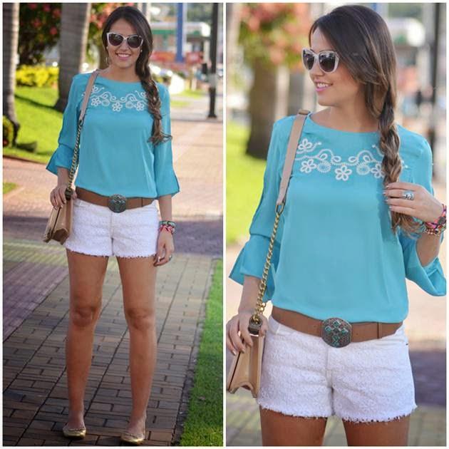c85461132 1- Essa sainha com esse sinto e uma blusa por dentro de manga cumprida está  muito na moda