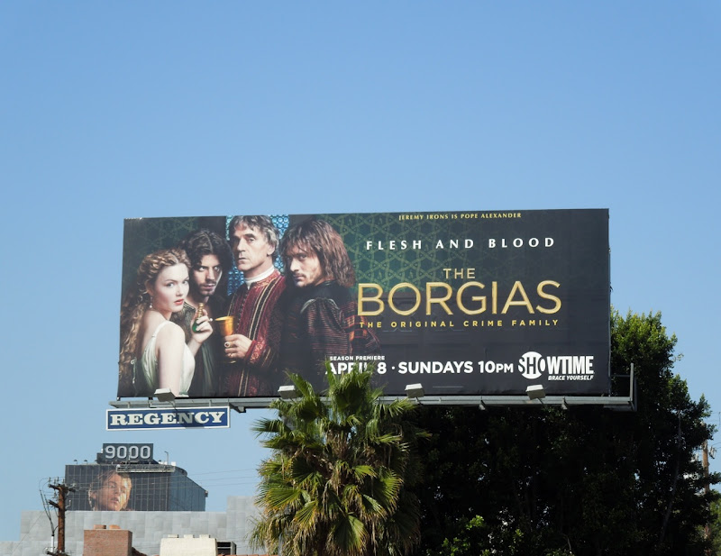 The Borgias season 2 TV billboard