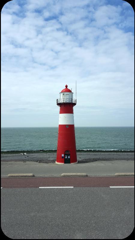 Der kleine Leuchtturm am Westkap zwischen Domburg und Westkapelle, Provinz Zeeland, Holland (Niederlande) | Arthurs Tochter Kocht von Astrid Paul