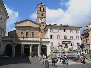 The Piazza di Santa Maria in Trastevere