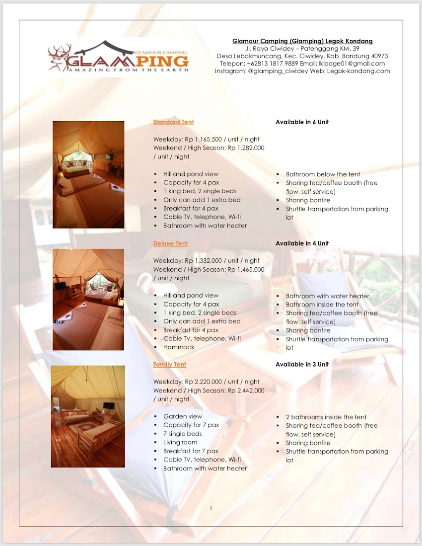 2D1N Itinerary in Ciwidey - Glamping Lakeside Rancabali