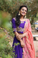 Actress Shraddha Srinath in Purple Chania Choli Cute Pics ~  Exclusive 35.jpg