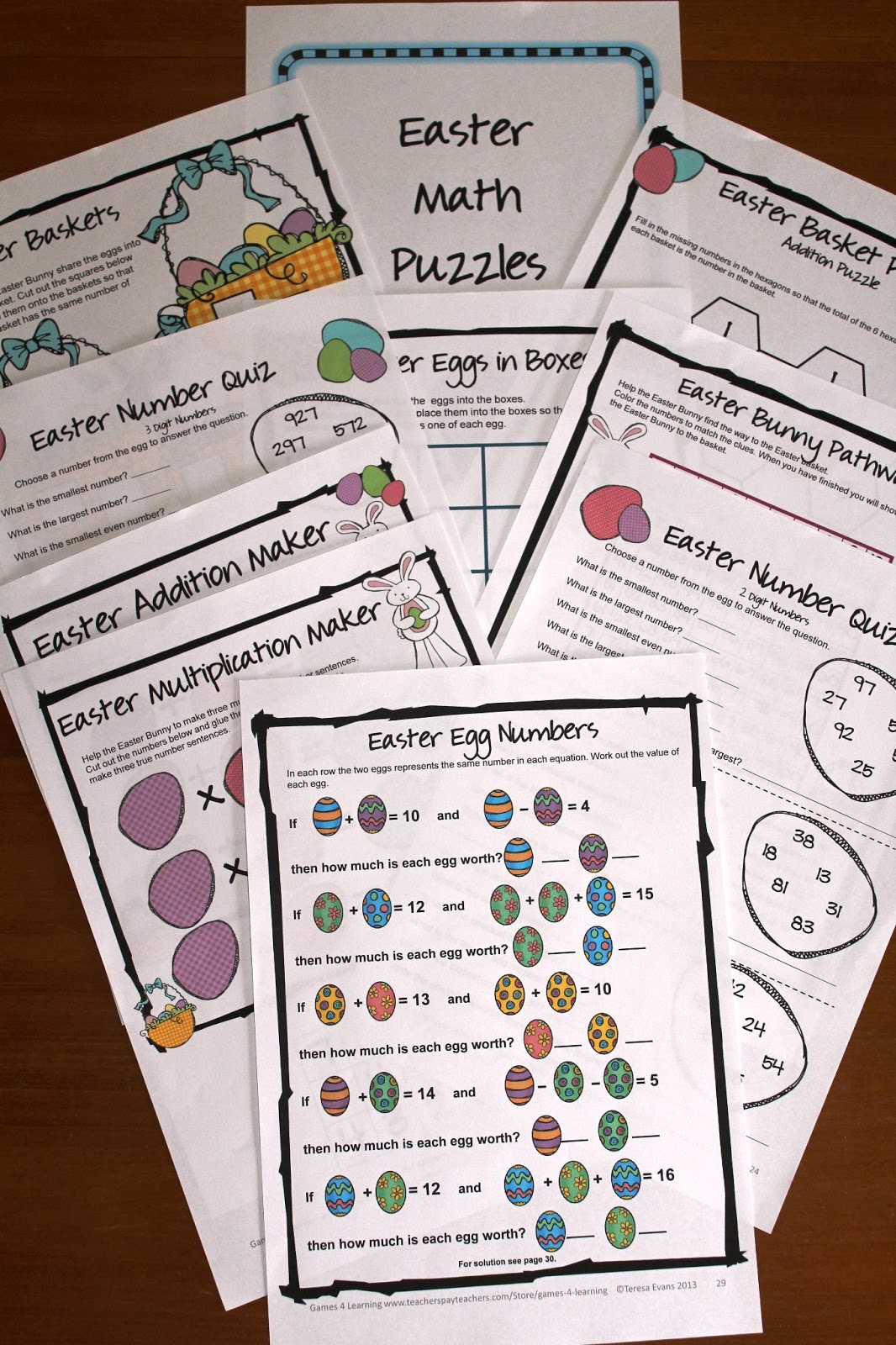 Fun Games 4 Learning Easter Math Freebies Happy Easter