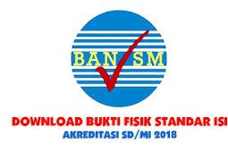 Download Bukti Fisik Standar Isi Akreditasi SD/MI 2018 Instrumen 1-10
