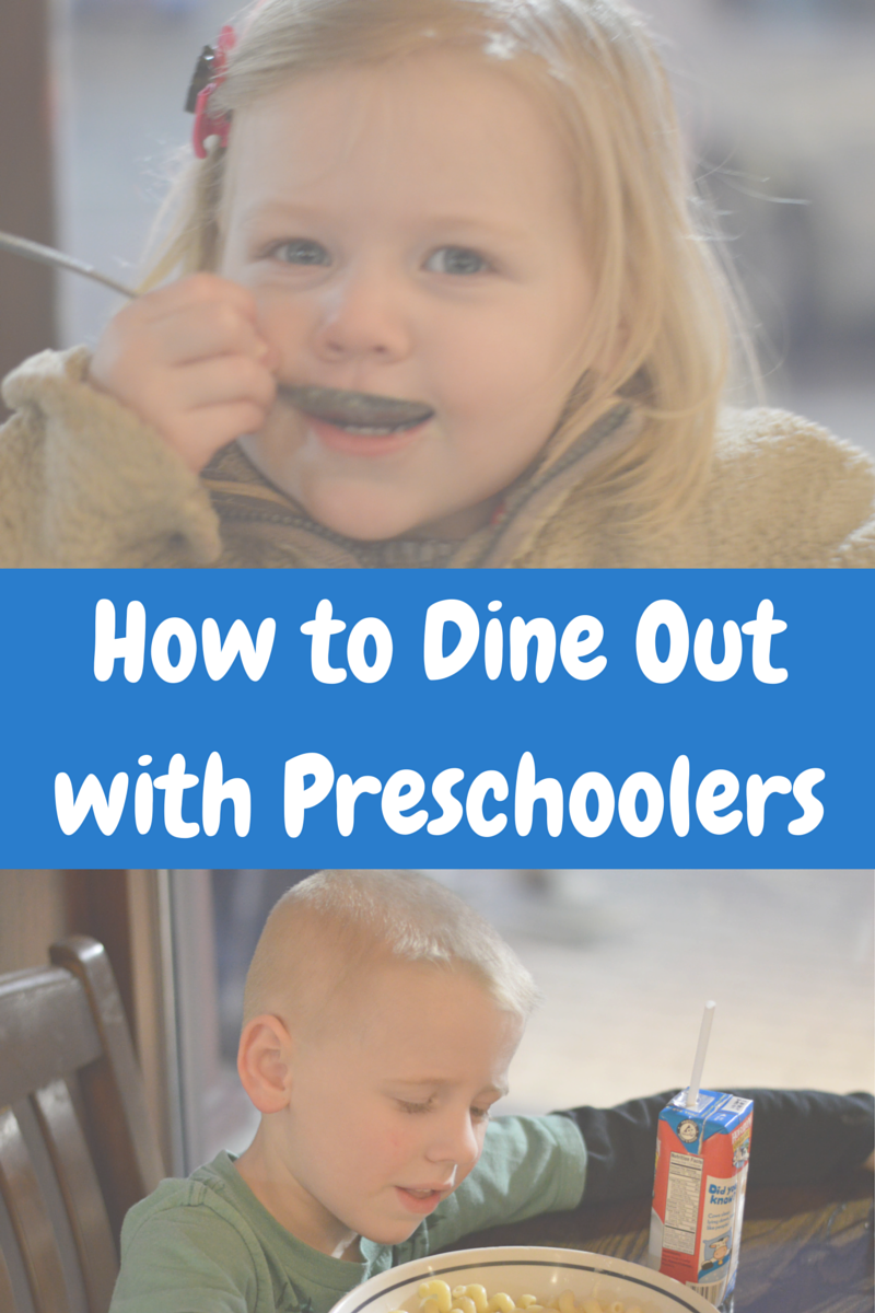 How to Dine Out with Preschoolers | all dressed up with nothing to drink...