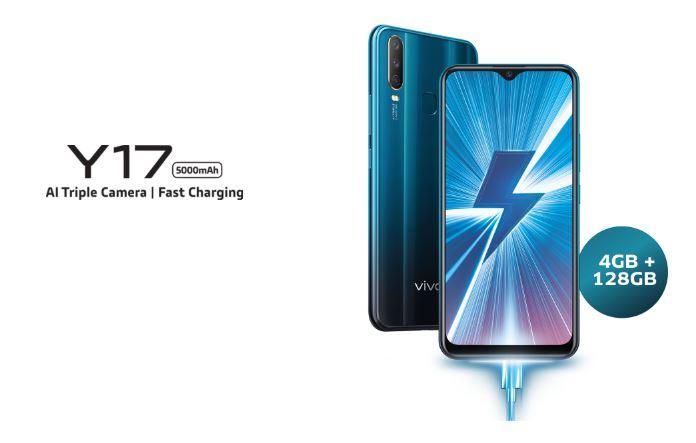 Harga dan Spesifikasi Vivo Y17 RAM 4GB ROM 128GB Terbaru di Indonesia