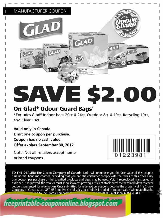 Glad trash bags coupons printable 2018