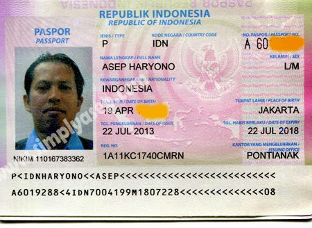 Just an example of old passport of mine. You must have a valid passport to visit West Borneo Indonesia.  Photo Asep Haryono