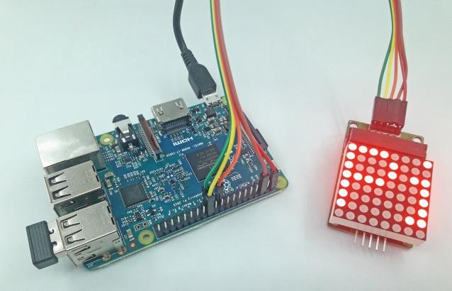 Raspberry Pi com Módulo MAX7219