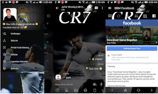 BBM MOD Cristiano Ronaldo CR7 v3.2.0.6 Transparan theme