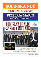 Solinska noć - Tomislav Bralić i klapa Intrade - Pučišća, pizzerija Marin slike otok Brač Online