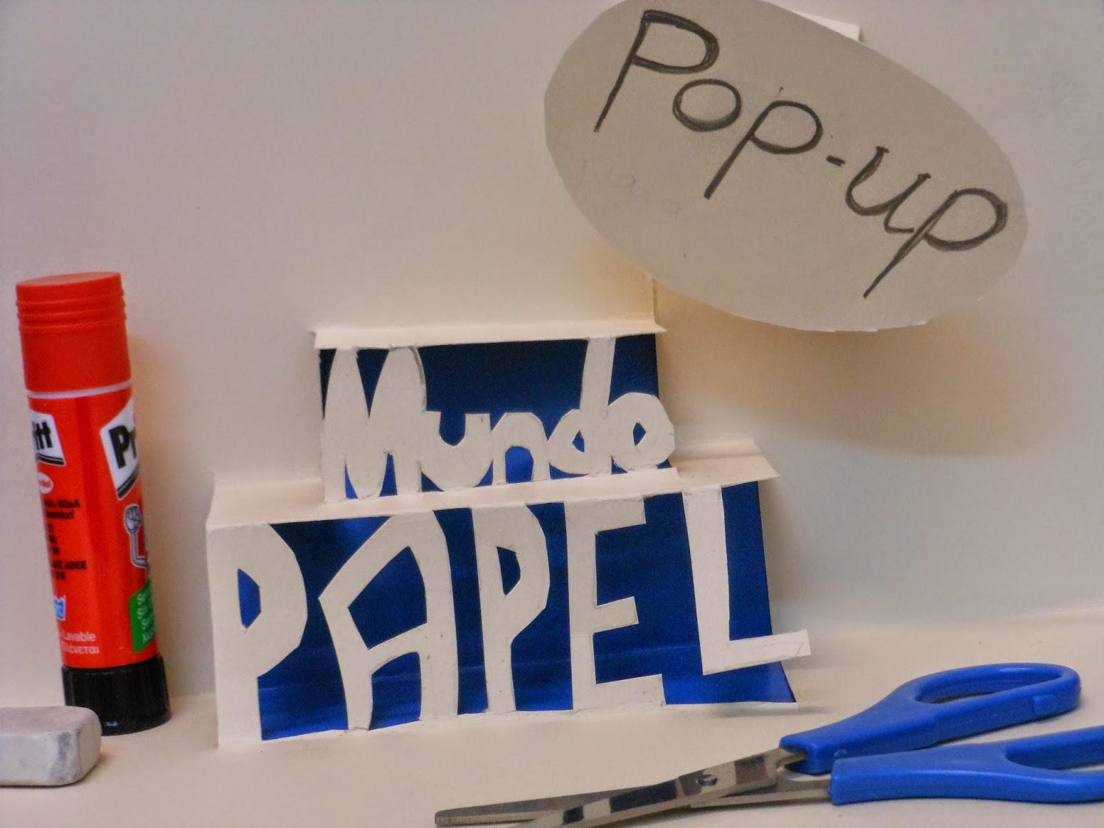 Mundo Papel: taller infantil de Pop-up. Mañana del 28 de Noviembre