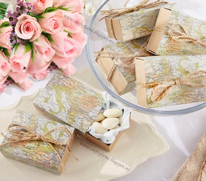 Wedding Card Malaysia Crafty Farms Handmade Rustic Travel Themed