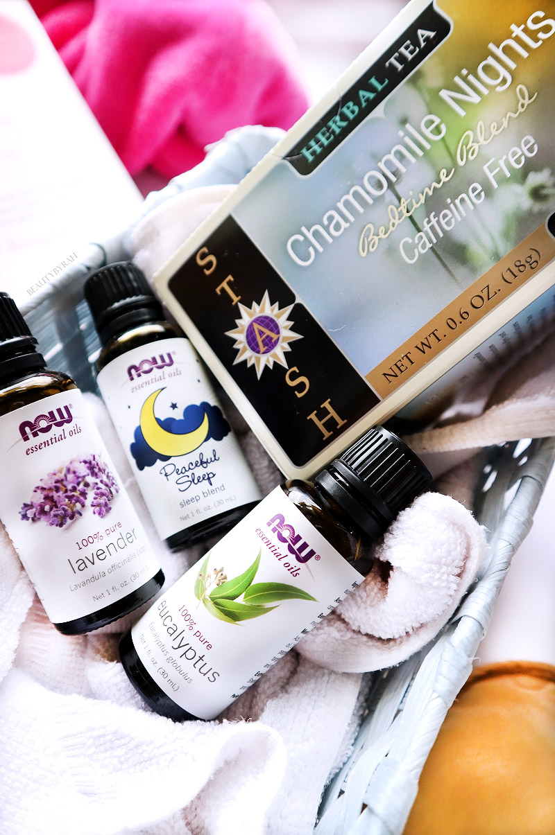 now essential oils and stash tea camomile nights bedtime blend