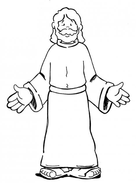 Mewarnai Gambar Tuhan Yesus Dan Anak Anak Pewarna N