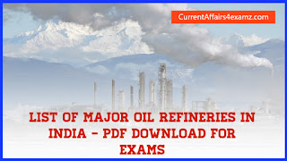 Major Oil Refineries in India