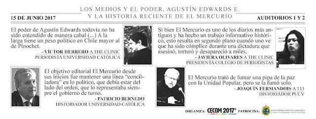 """Foro """"Los Medios y el Poder: Agustín Edwards E. y el Mercurio"""""""
