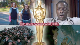 90th Oscar nomination list(2018).