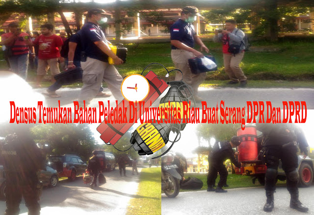 Densus Temukan Bahan Peledak Di Universitas Riau Buat Serang DPR Dan DPRD