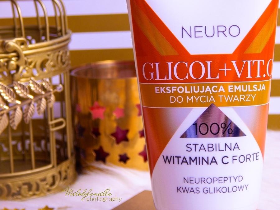 4 bielenda neuro glicol vit c eksfoliujaca emulcja do mycia twarzy z witaminą c eksfoliujący krem korektor zmarszczek i przebarwien krem do twarzy żel do mycia recenzja