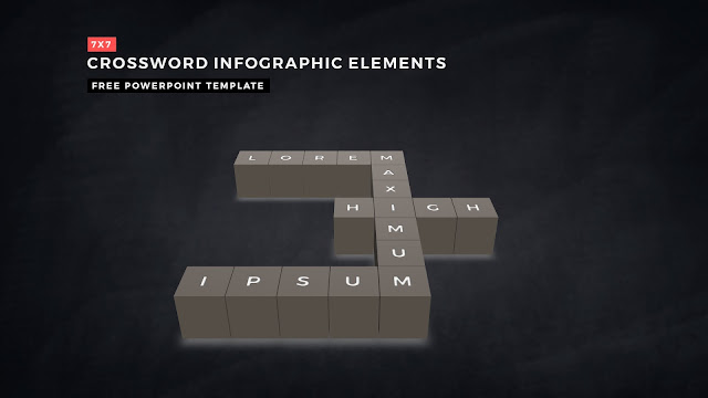 Crossword Puzzles Infographic Elements for PowerPoint Templates with Dark Background Slide 8