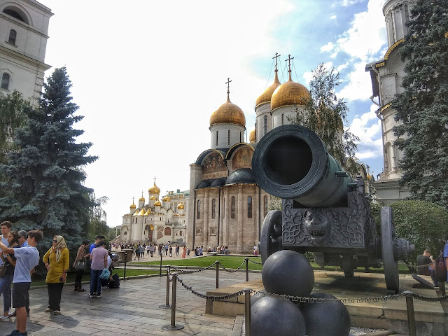 Zar cañon Catedrales Kremlin Rusia