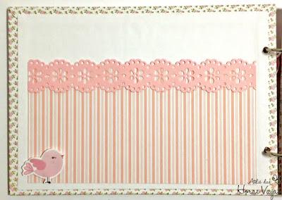 livro de mensagens álbum recordação recados aniversário festa infantil 1 ano aninho jardim encantado passarinho floral rosa delicado scrap scrapbook scrapbooking rosa bebê personalizado memórias