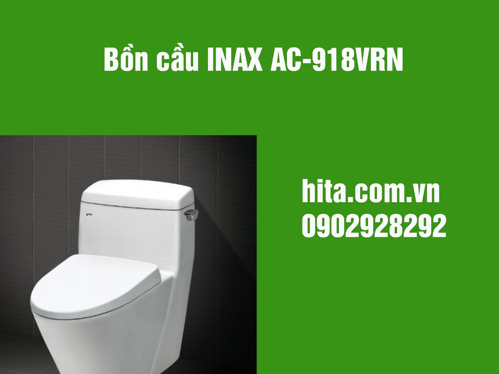 Giá và kích thước bồn cầu INAX AC-918VRN mới nhất