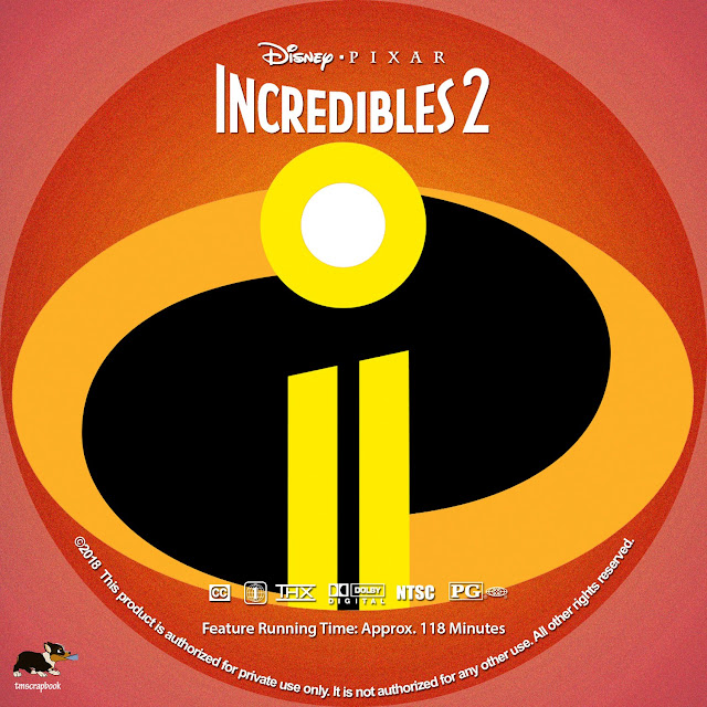 Incredibles 2 DVD Label