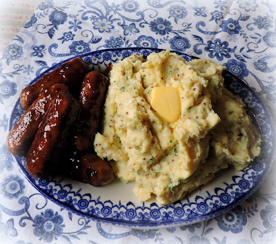 Sticky Sausages with Cream & Mustard Mash