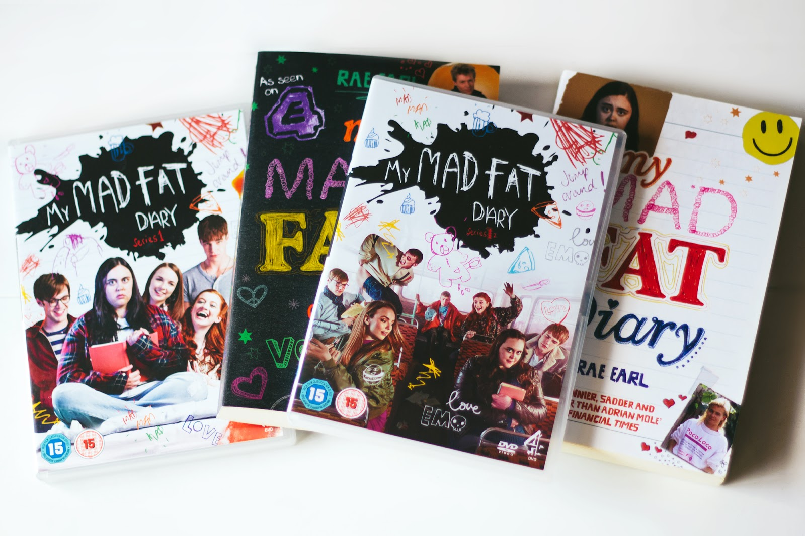 my mad fat diary dvds & books rae earl sharon rooney nico mirallegro finn nelson