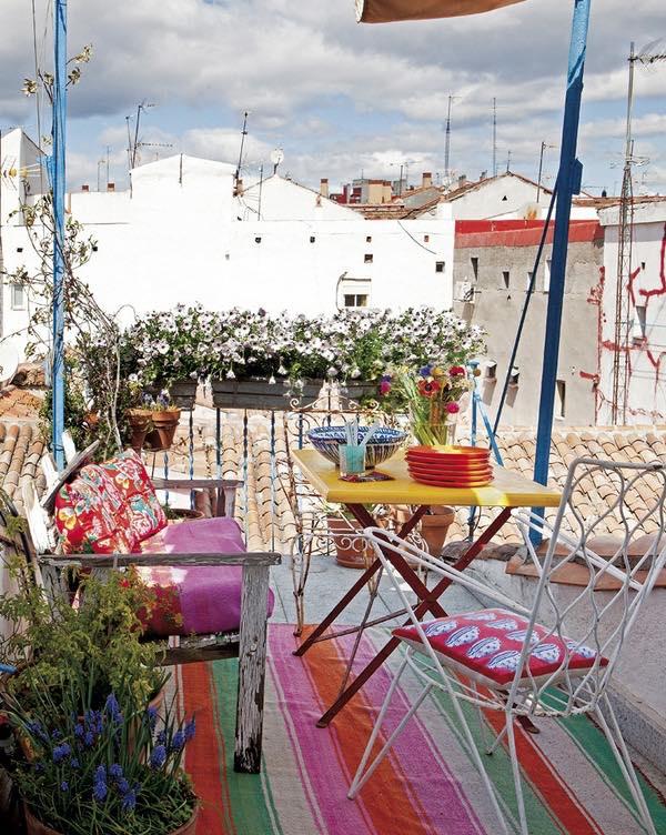 El refugio de una artista en Lavapiés- terraza