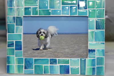 Ocean inspired mosaic frame
