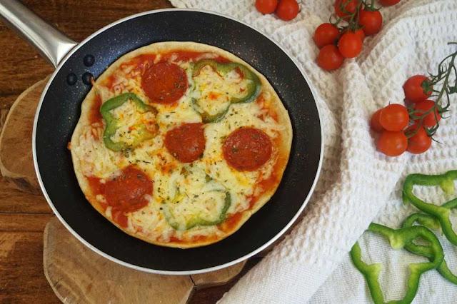 Pizza a la sarten sin levadura ni horno