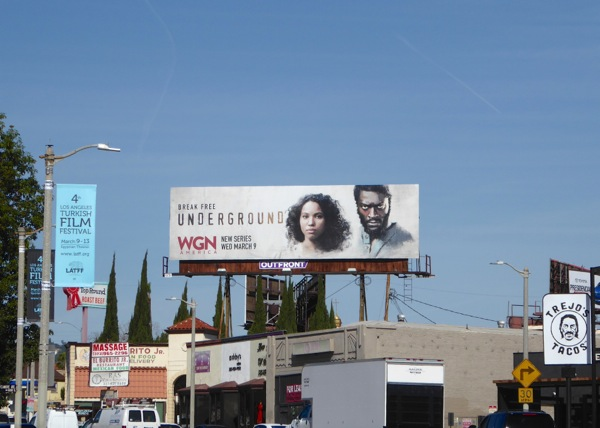 Underground series launch billboard