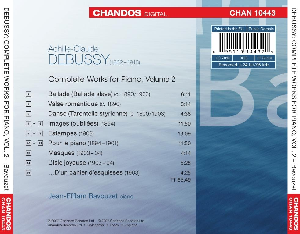 Debussy List Of Works