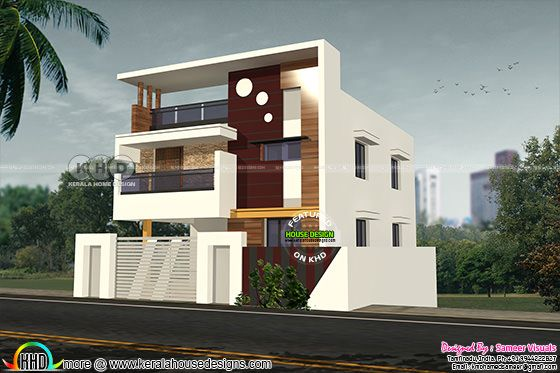 2220 square feet 4 bedroom flat roof Tamilnadu home