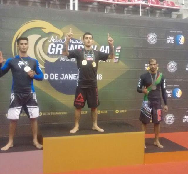 Jefferson de Souza conquista medalhas de prata em etapa do Abu Dhabi Grand Slam Jiu-Jítsu World Tour