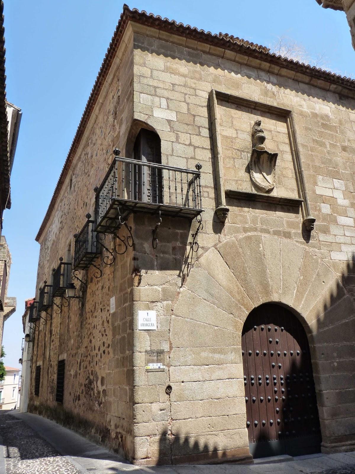 Cáceres, Plaza de Santa María, Palacio Carvajal.