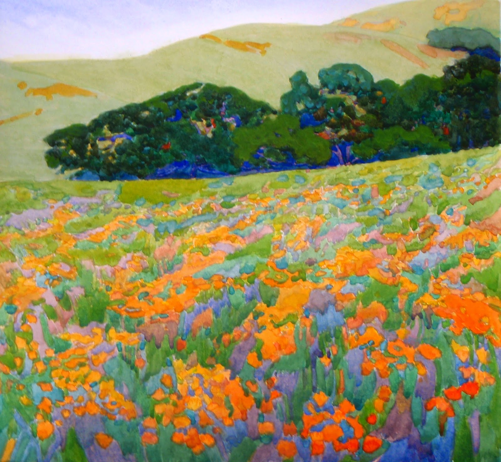 robin purcell california watercolors in the plein air tradition LPAPA s