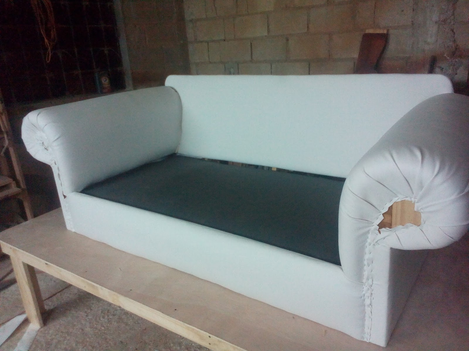 Comercial Glenis Leder blanco