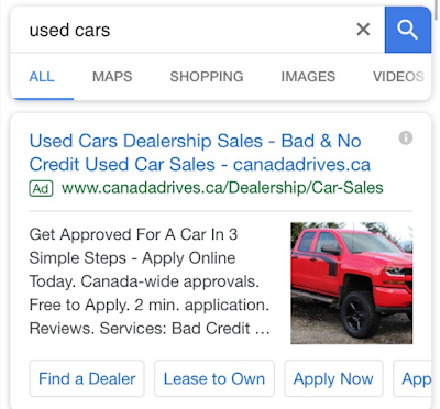 Google is testing images in search text ads