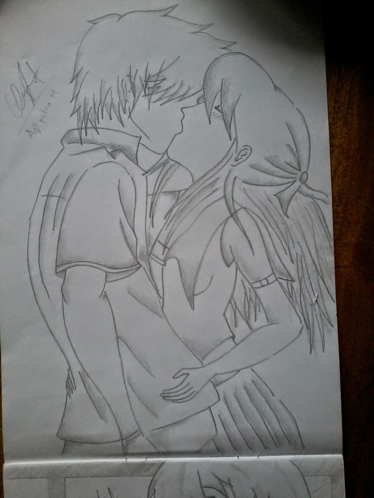 Lukisan Pensil Kartun Anime Brad Erva Doce Info