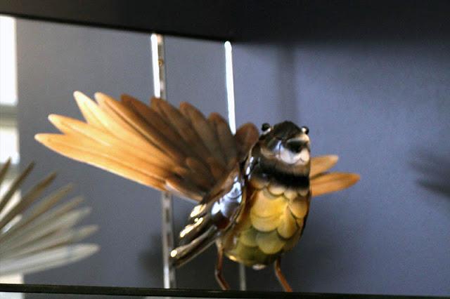 Fan-tail and Kiwi birds at Wai-O-Tapu souvenir shop