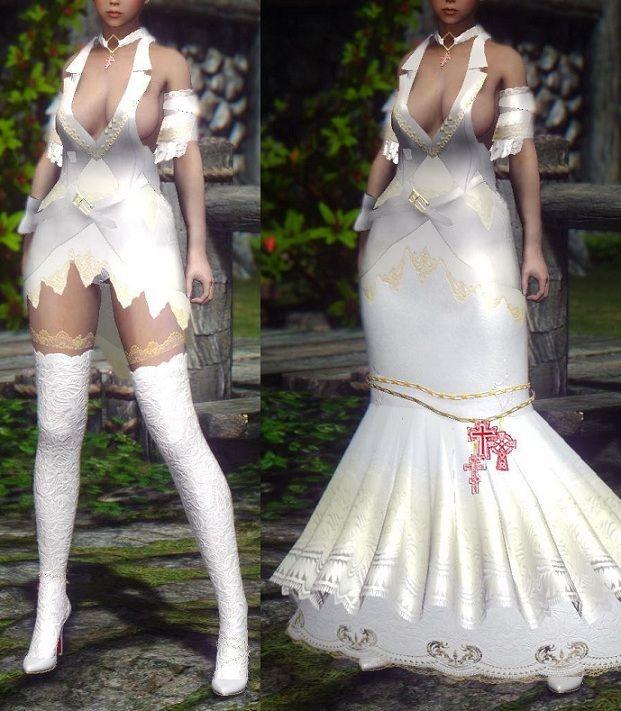 Half Vampire Wedding Dress UNP
